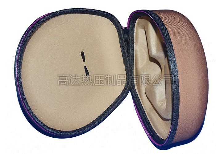Custom EVA Earphone Case Hard Shell / Headset Carrying Case